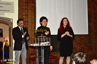 Alberto Moioli con Issei Watanabe e Anna Zamboni
